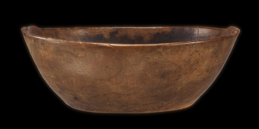 Medicine Bowl with Shouldered Ends