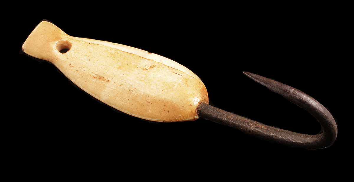 Inuit Iron & Ivory Fish Hook
