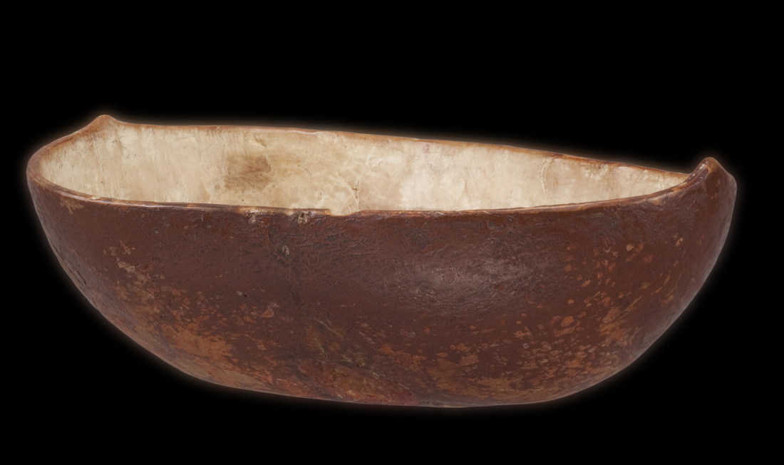Red Painted Ceremonial Bowl