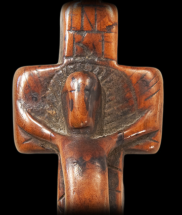 Eastern Woodlands Carved Crucifix (detail)